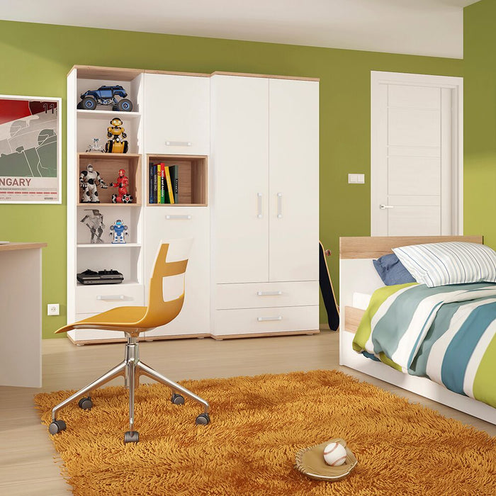 Cabinets, thebeddingbox, 4Kids Tall Light Oak & White 2 Door Cabinet - from thebeddingbox.co.uk