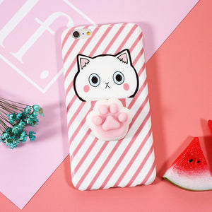 "Coque Iphone Patte de Chat ""Squishy"" Rose"