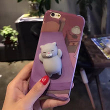 "Coque Iphone / Samsung Chat Moelleux ""Squishy"" Gris"