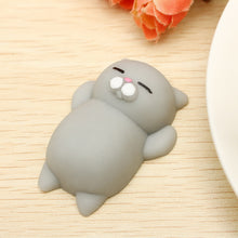 "Chat Moelleux ""Squishy"" Gris Anti Stress"