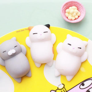 "Pack de 3 Chats Moelleux ""Squishy"" Anti Stress"