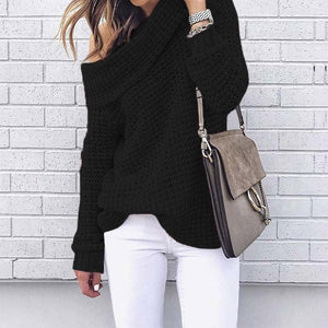 Off Shoulder Pullover Sweater
