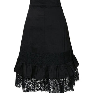 Black Steampunk Skirt with Buckle Front