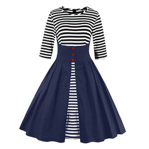 1950s Nautical Style Vintage Dress