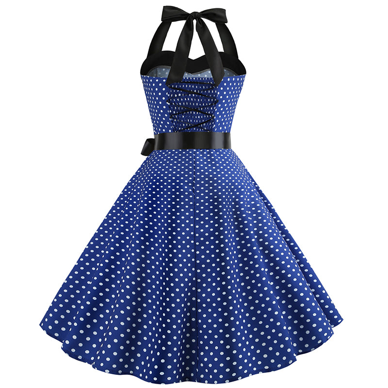 Rockabilly Polka Dot Halter Dress