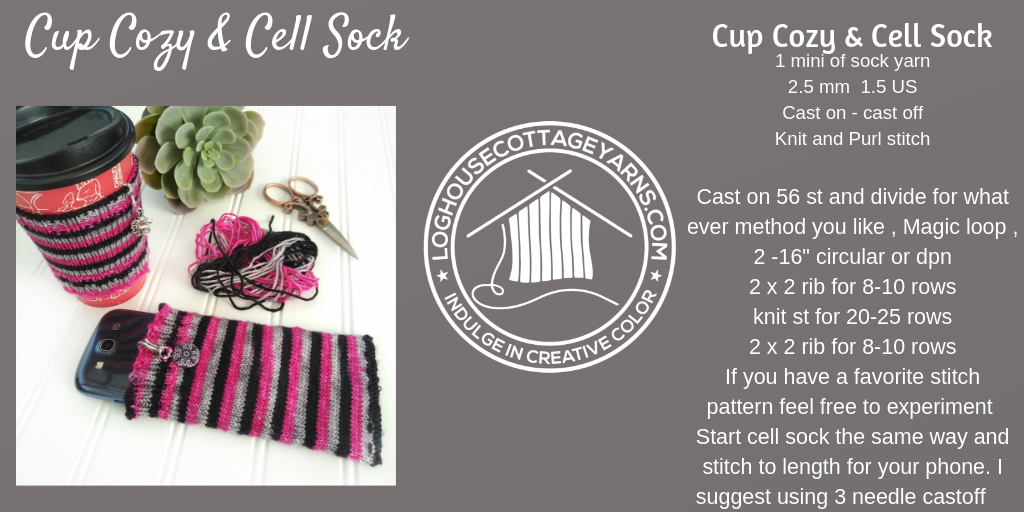 Cup Cozy & Cell Sock
