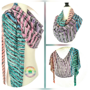 Knitting patterns for mini skein sets #2 Easy Mini Skein Shawl/Scarf  - Recipe / Pattern