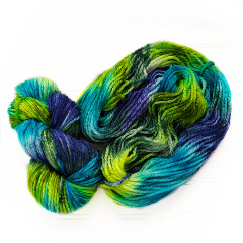 Cozy Chunky hand dyed Yarn - Northern Light