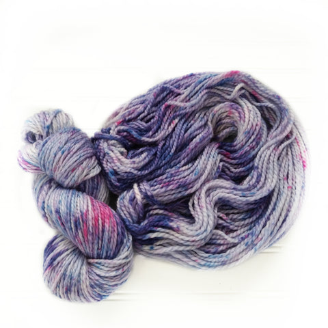 Cozy Chunky hand dyed Yarn - Blueberry Swirl