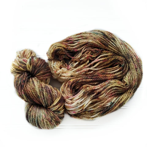 Cozy Chunky hand dyed Yarn - Moose Tracks