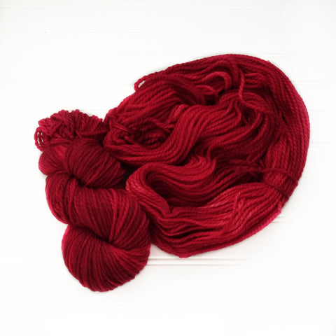 Cozy Chunky hand dyed Yarn - Red Carpet