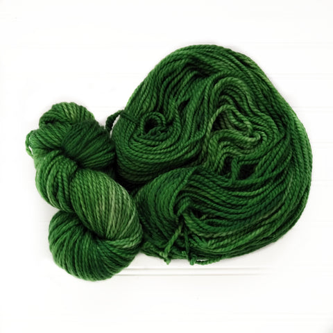 Cozy Chunky hand dyed Yarn - Leaf Green