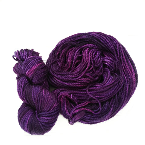 Cozy Chunky hand dyed Yarn - Rich Purple