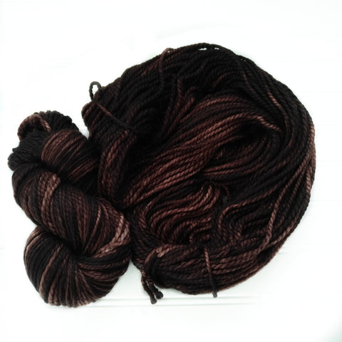 Cozy Chunky hand dyed Yarn - Dark Coffee