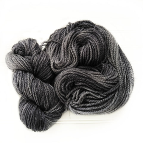 Cozy Chunky hand dyed Yarn - Squirrel Gray