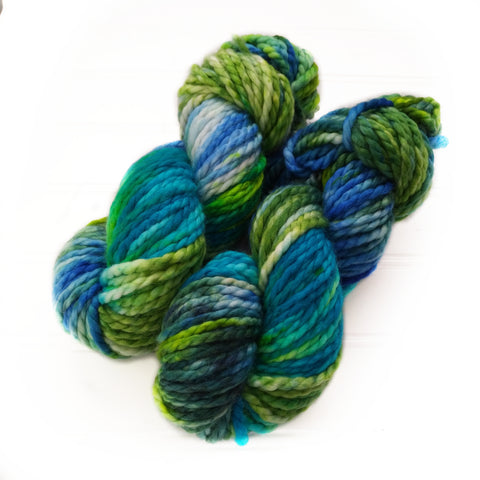 North Woods Bulky Hand dyed yarn - Northern Light