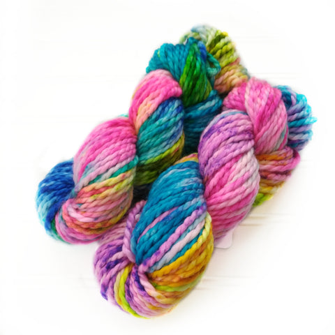 North Woods Bulky Hand dyed yarn - Party