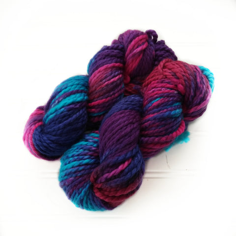North Woods Bulky Hand dyed yarn - Gems