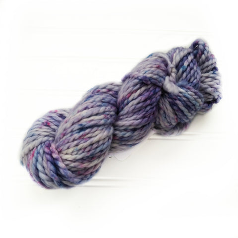 North Woods Bulky Hand dyed yarn - Blueberry Swirl