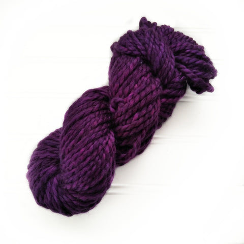 North Woods Bulky Hand dyed yarn - Rich Purple