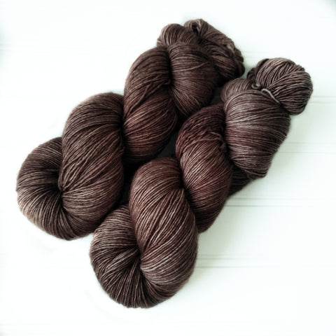 Single Ply Sock/Fingering Weight - Med Coffee