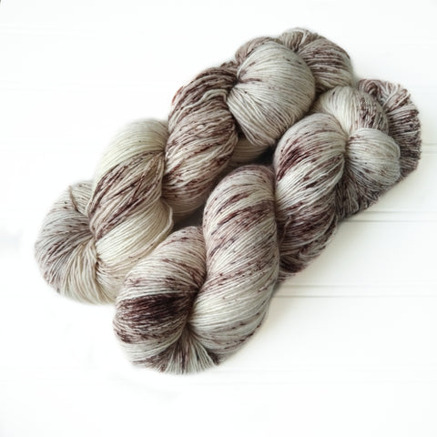 Single Ply Sock/Fingering Weight - Speckled Coffee