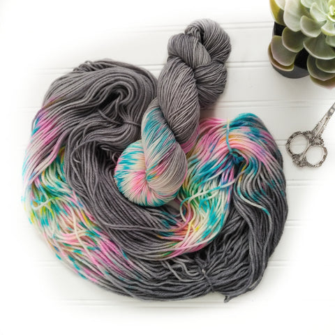 Cloudy With Glitter - Softy Worsted