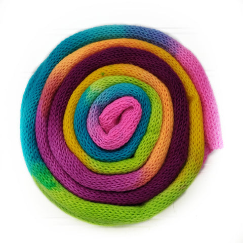 Knit blank dyed Squishy Sock Yarn - Bright Rainbow
