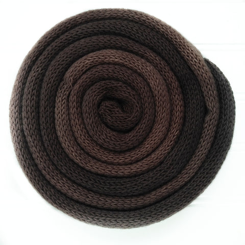 Knit blank dyed Squishy Sock Yarn - Brown