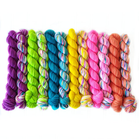 Mini Skein Set of 12 heat wave