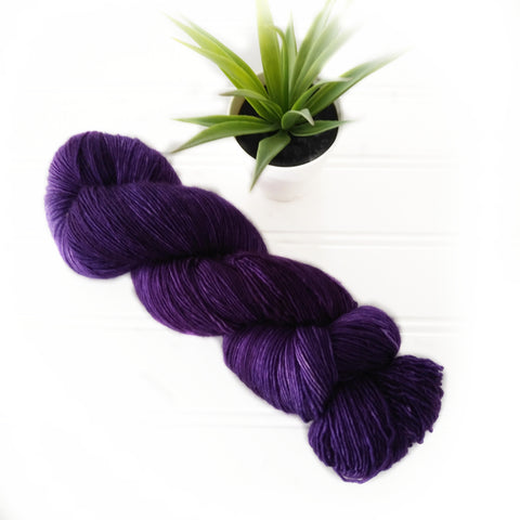 Single Ply Sock/Fingering Weight - Royal purple Dark