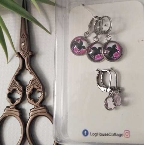 Stitch Marker / Progress keeper Set - Knit or Crochet