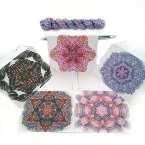 Note Cards - Yarn Art - Pack of 5 Mixed - Knit