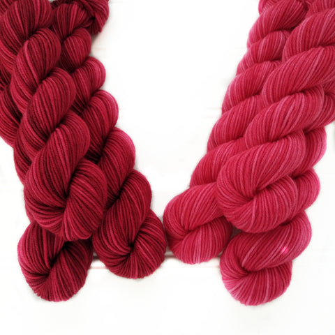 Single Semisolid Mini Skein  - Reds