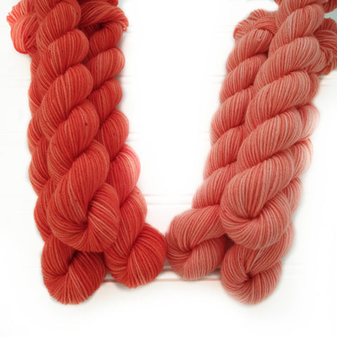 Single Semisolid Mini Skein - Squash Orange