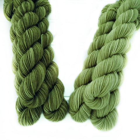 Single Semisolid Mini Skein - Moss Greens