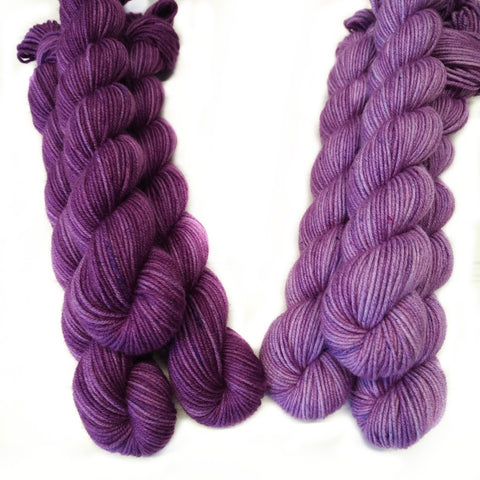 Single Semisolid Mini Skein - Plum - Aster Purlpe