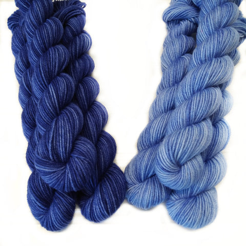 Single Semisolid Mini Skein Denim Days Dark & Light