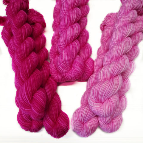 Single Semisolid Mini Skein - All Pink - Dark - Medium - Light