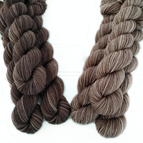Single Mini Skein - Coffee