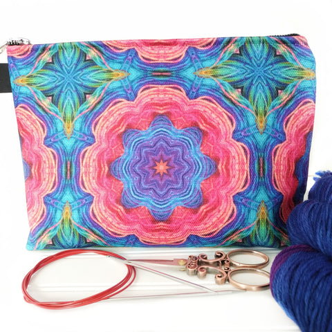 Zipper Project Bag - Jessie's Garden