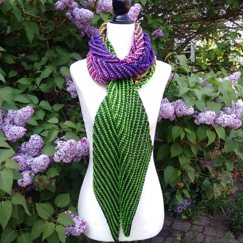 Long Tail Scarf - Knitting Pattern PDF Download