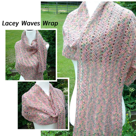 Lacy Waves Scarf - Wrap Crochet Pattern PDF Download