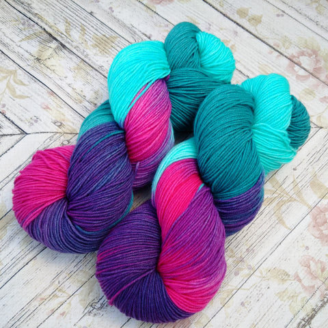 hand dyed yarn sock, hand painted yarn
