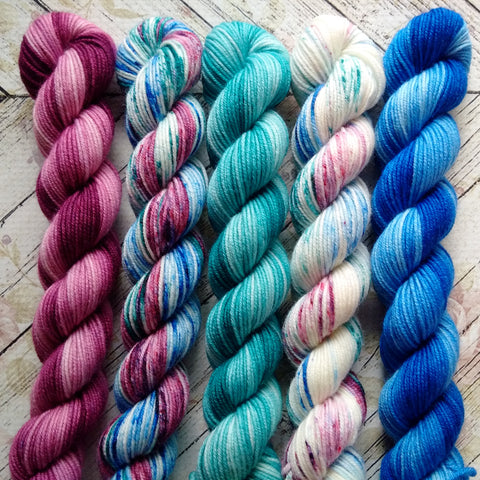 Liquid Color  Mini Skein Set of 5