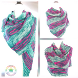 EZ Dk Color Play Asymmetrical Shawl/Scarf  knitting pattern