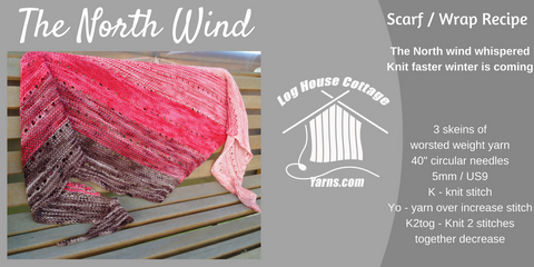 The North Wind Scarf / Shawl Knitting Pattern PDF Download