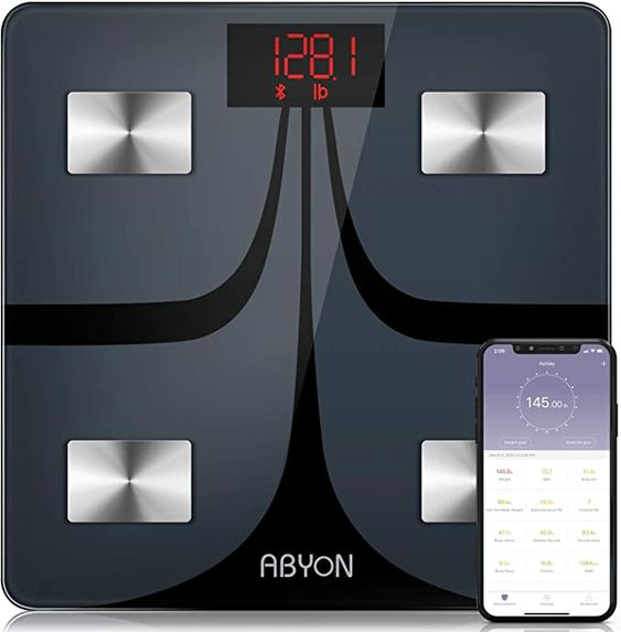 ABYON Digital Scale with Bluetooth (Sync with your Mobile Fitness App) - ESHOP NIGERIA