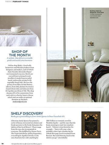 Made+Good simple things magazine February 2018 shop of the month