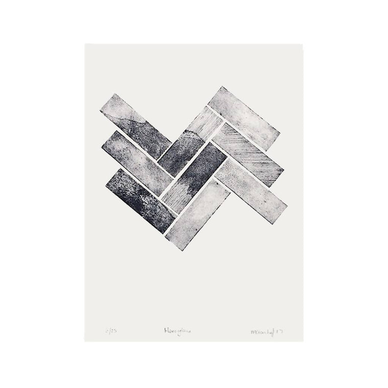 Herringbone Limited Edition Collagraph